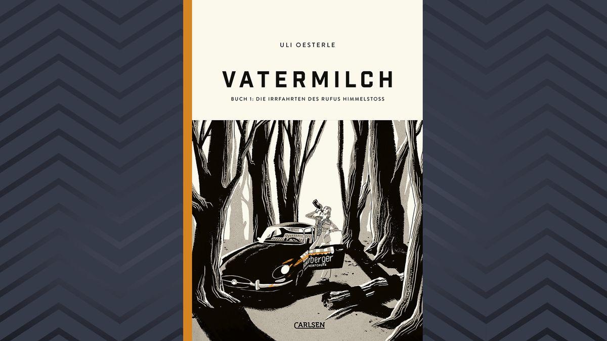 """Cover von Band Eins der vierteiligen Grafik Novel """"Vatermilch"""" von Uli Oesterle"""