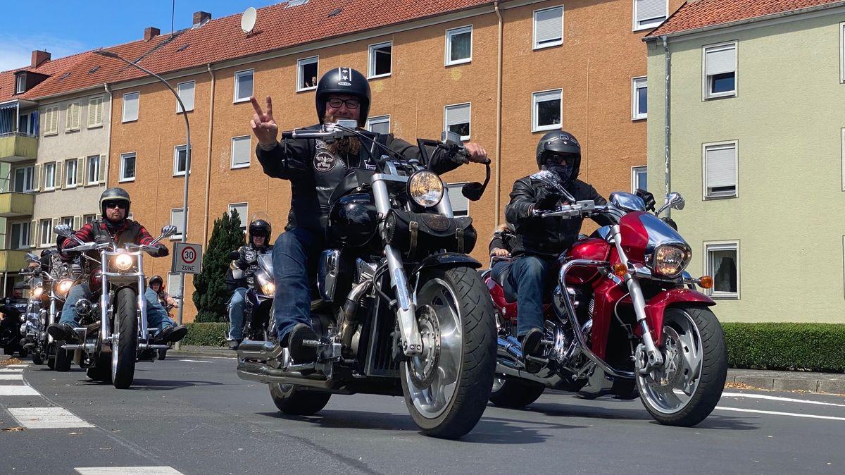 5.000 Teilnehmer bei Motorrad-Demo in Schweinfurt
