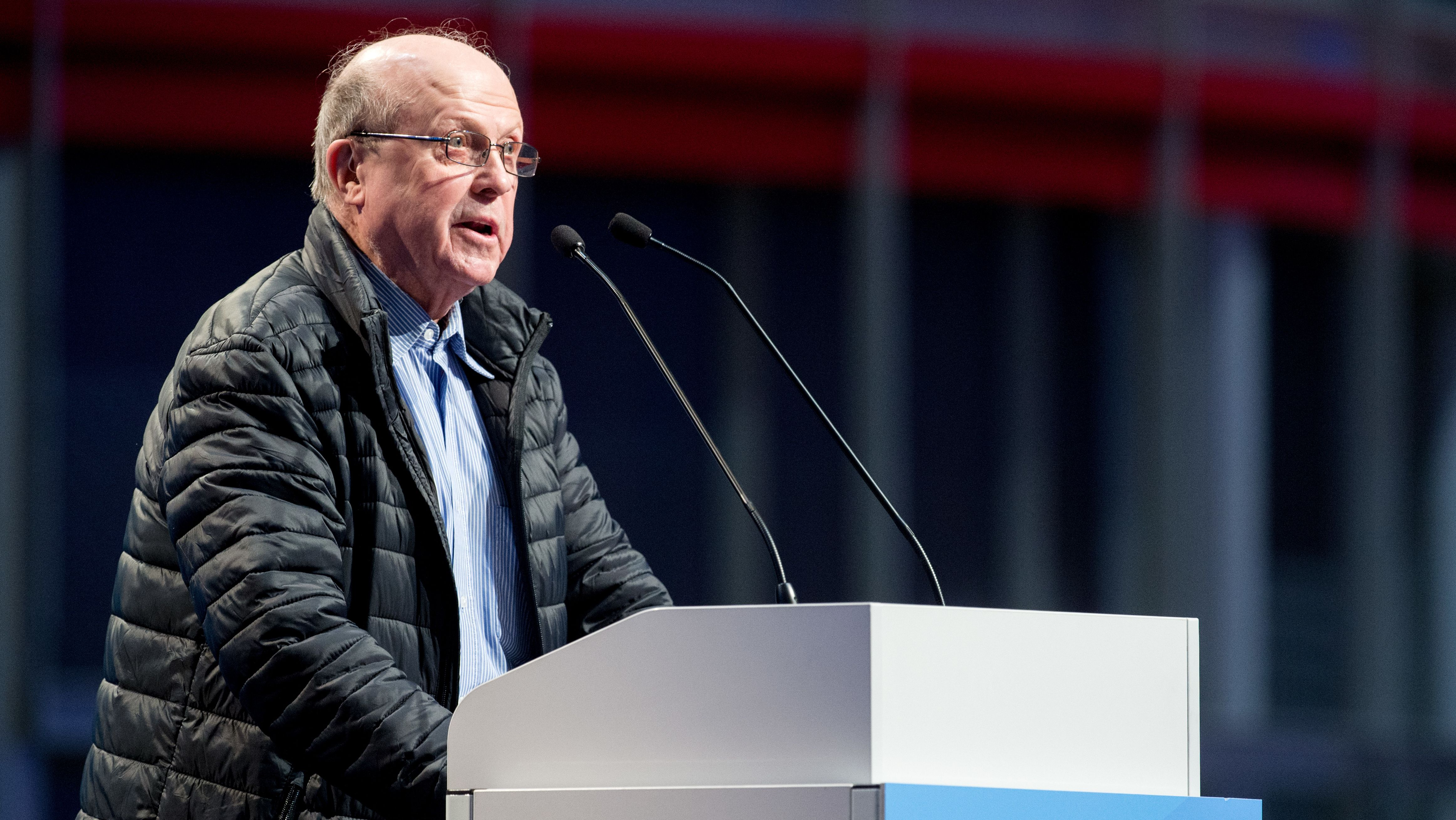 Manfred Schmidt, AfD, beim Bundesparteitag der Alternative für Deutschland 2017