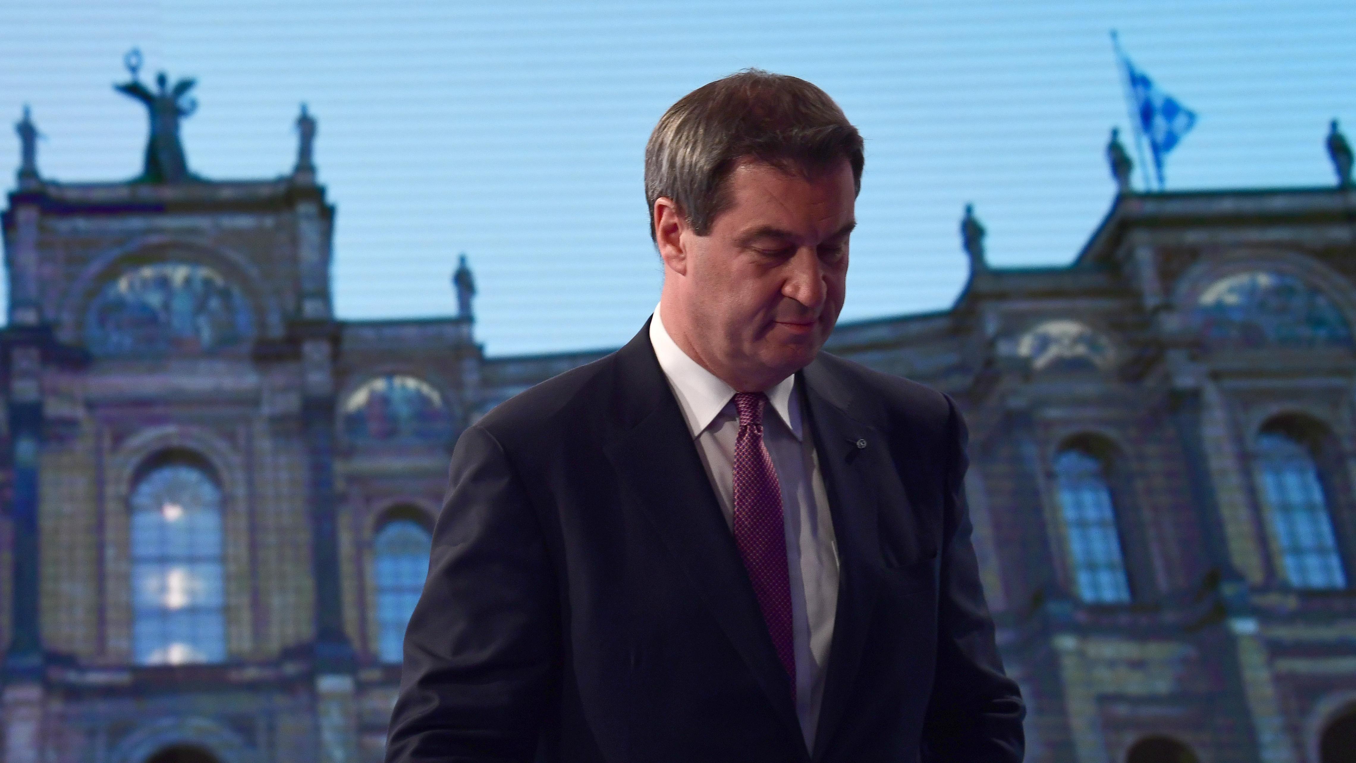 Markus Söder vor Bayerischem Landtag
