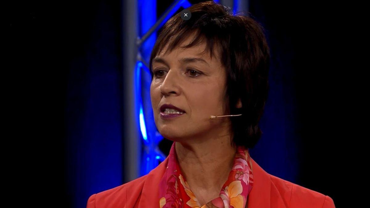 Ulrike Müller von den Freien Wählern in der BR Wahlarena.