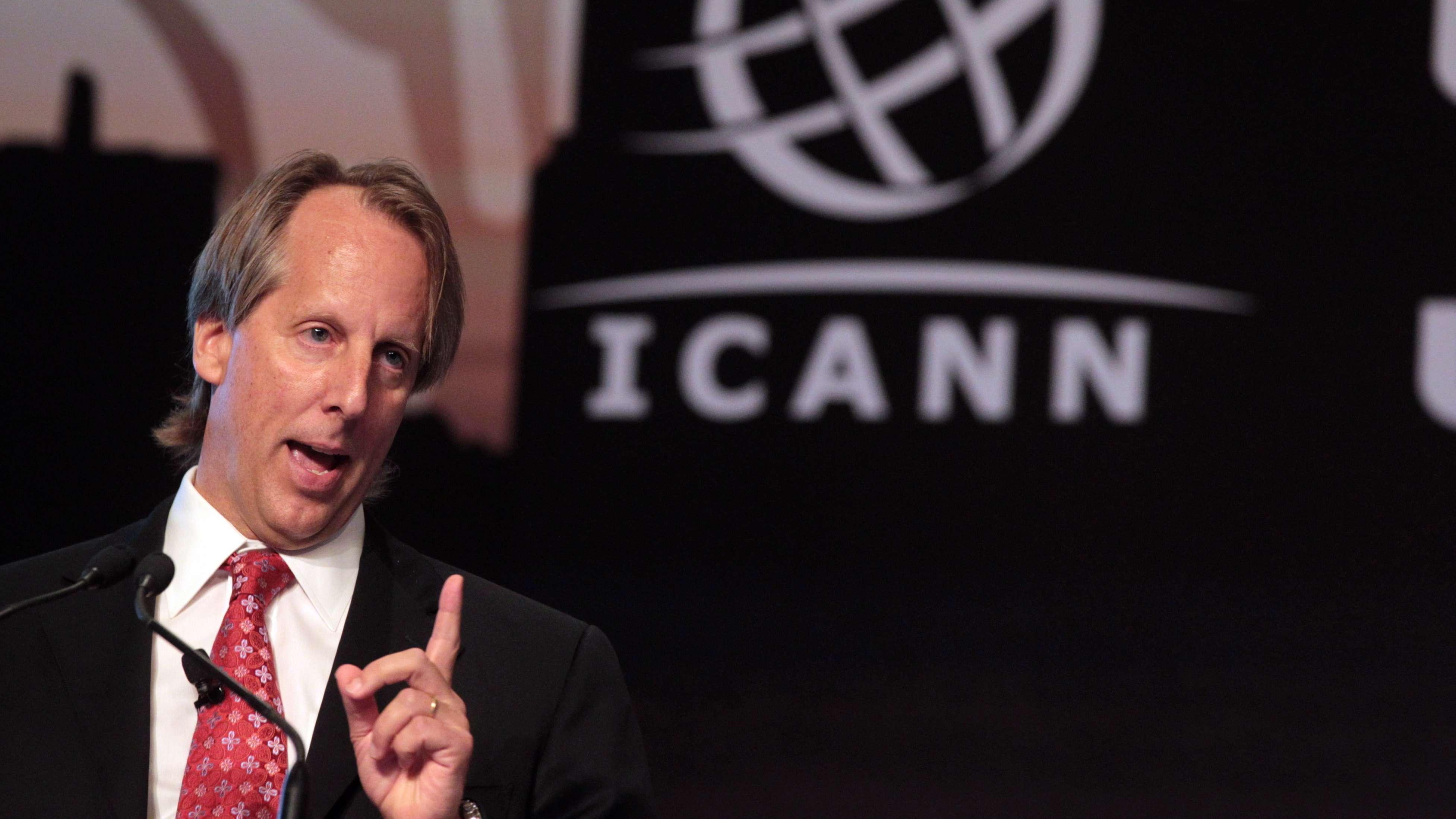 Die Internet-Verwaltung ICANN (hier: Ex-CEO Rod Beckstrom) ist für die Auflösung von Web- in IP-Adressen zuständig.