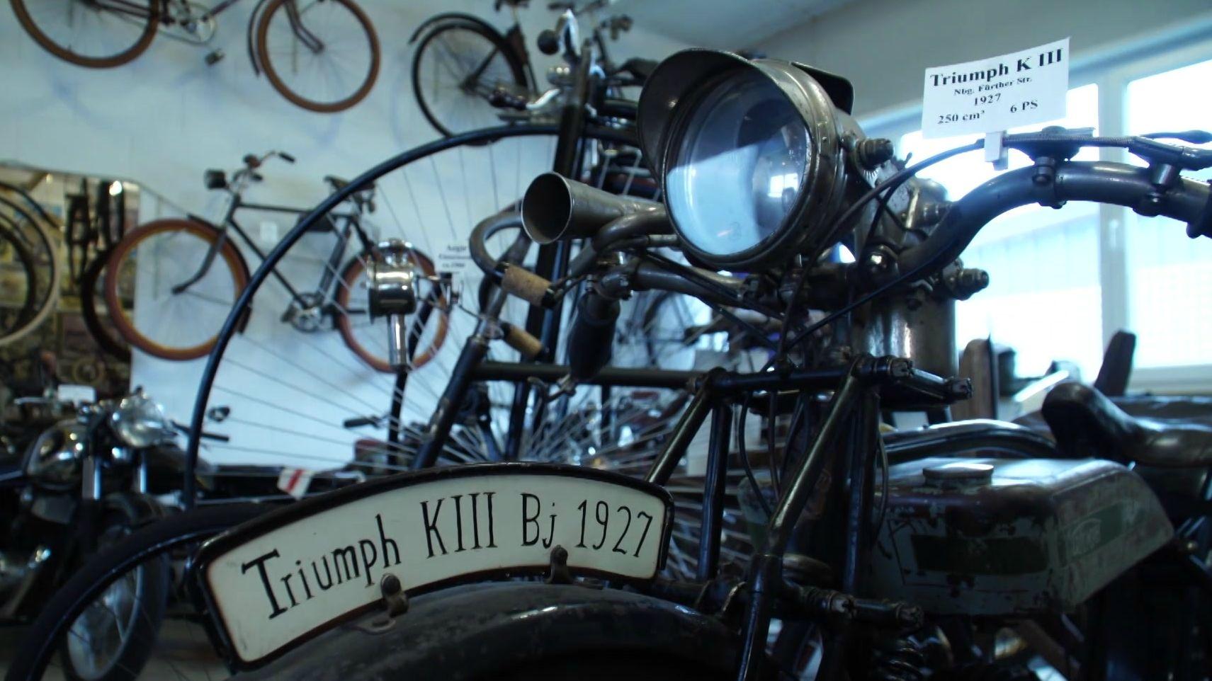 Motorrad der Marke Triumph aus dem Jahr 1927