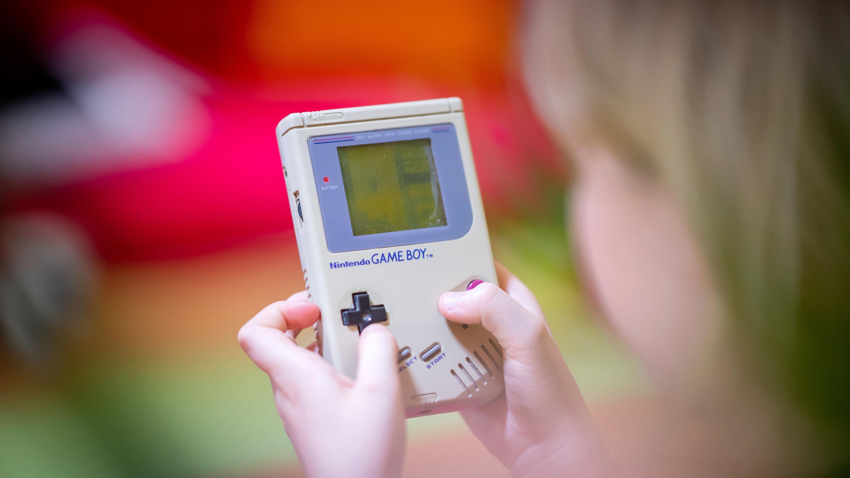 Tetris auf Gameboy.