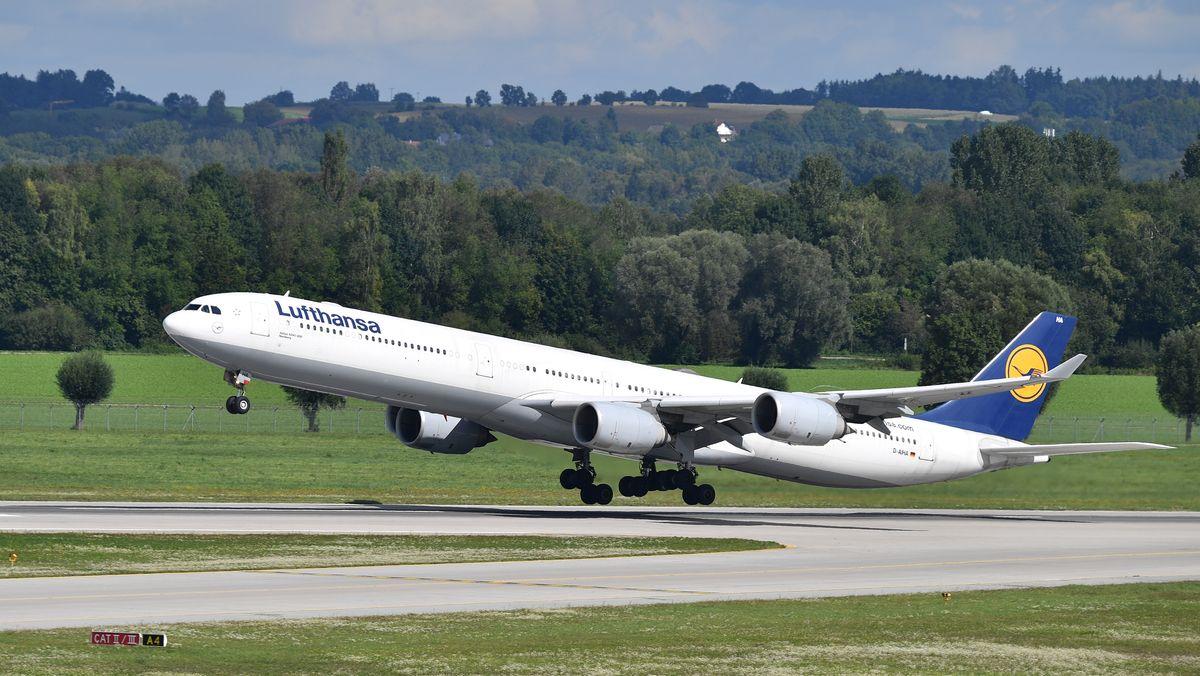 Künftig nicht mehr nach München: Startende Lufthansamaschine in Nürnberg.