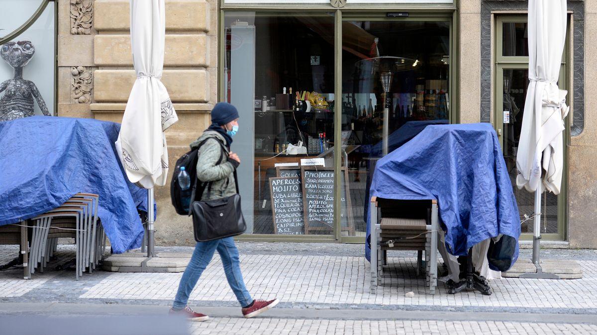 Ein geschlossener Gastronomie-Betrieb in Prag.