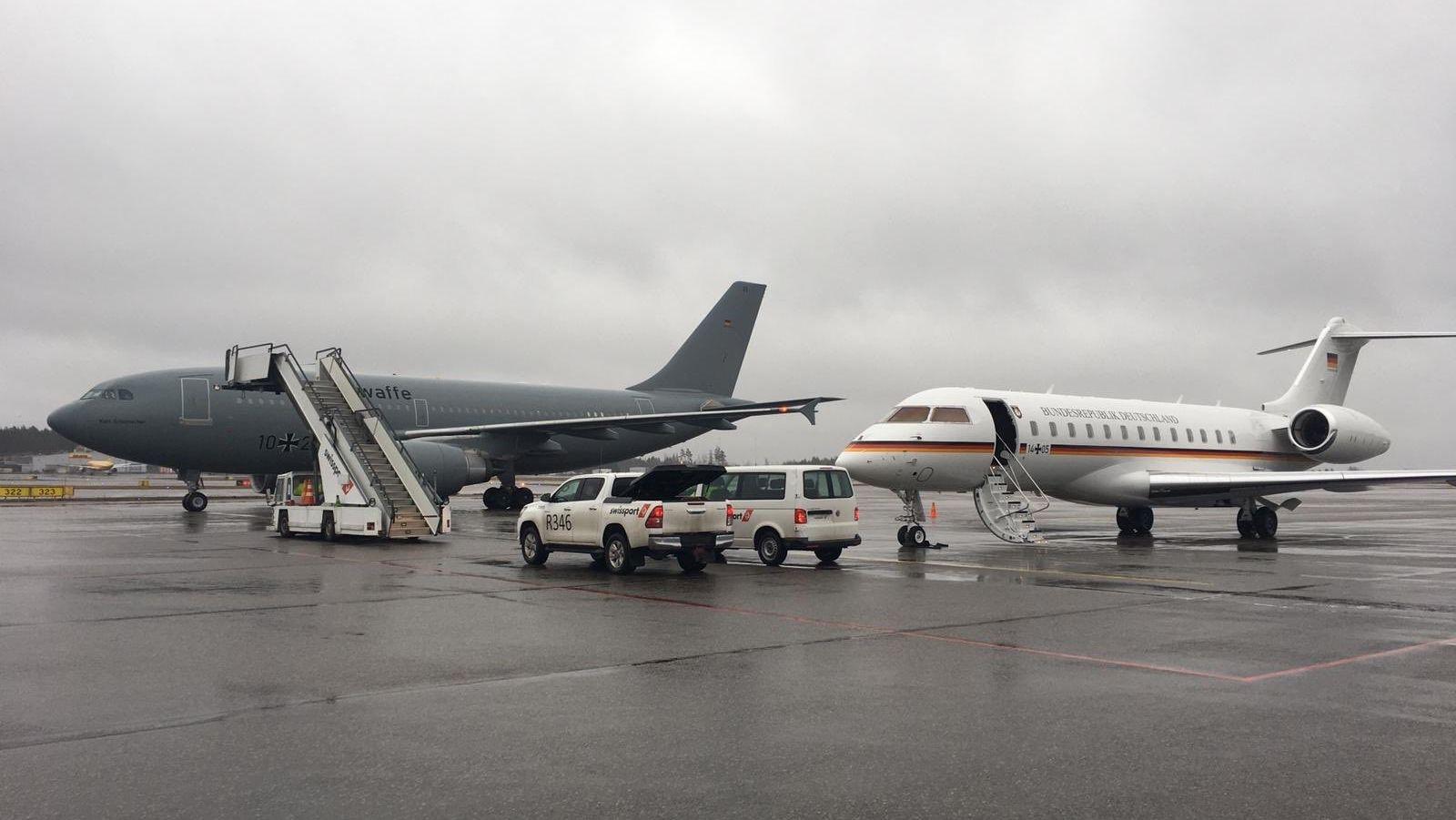 Maschine der Lufthansa in Helsinki
