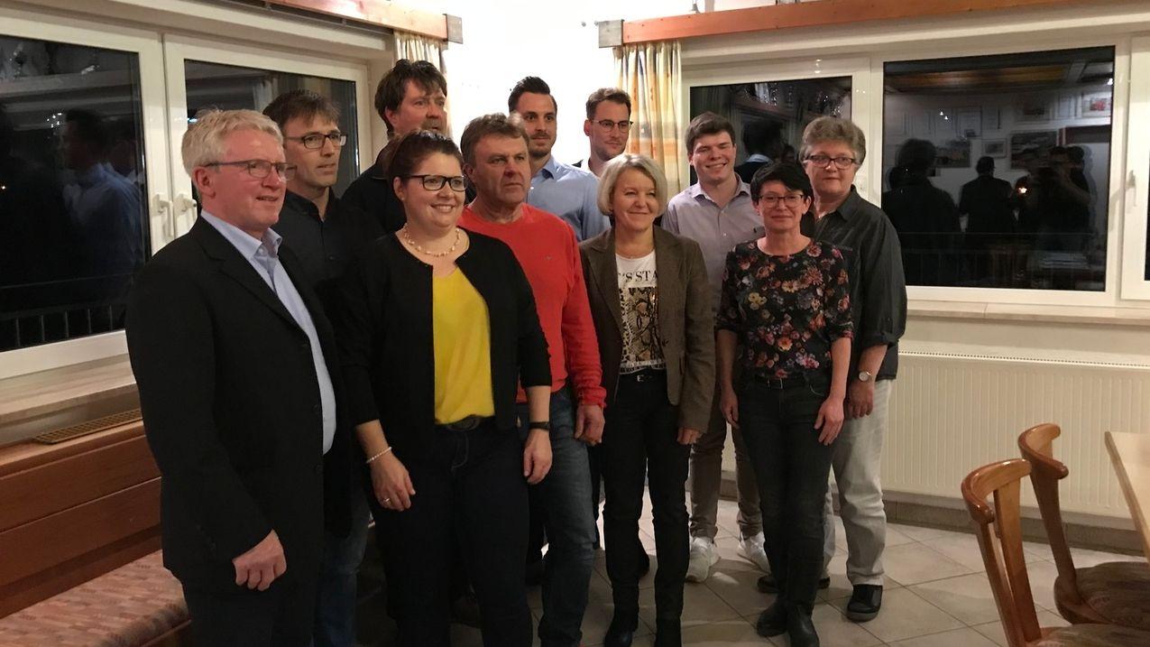 CSU Gemeinderatskandidaten in Wallerstein