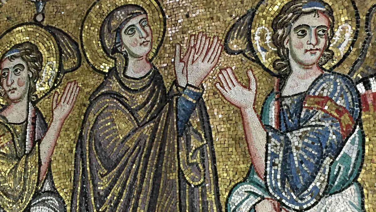 Die Mosaike zeigen auch Szenen aus dem Leben Jesu.