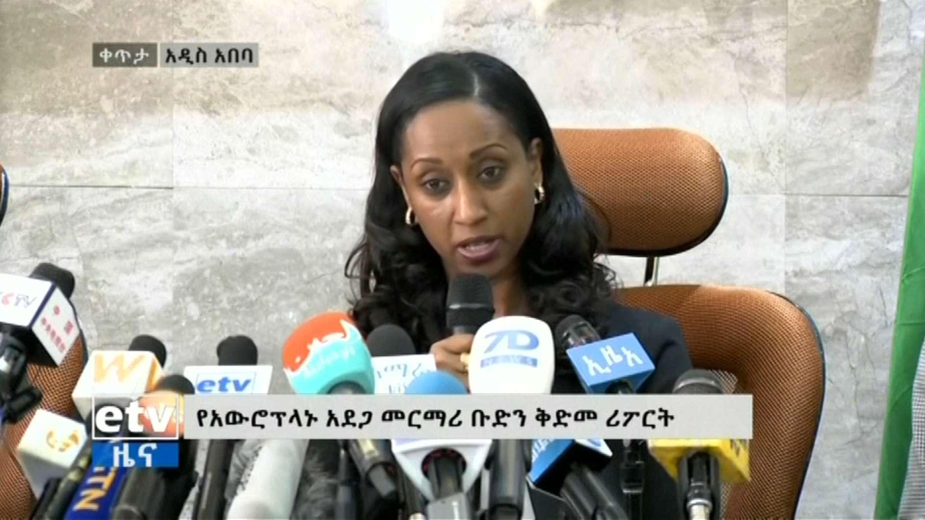 Pressekonferenz des äthiopischen Transportministeriums