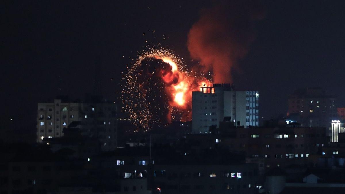 Explosion nach Luftangriff auf Gaza