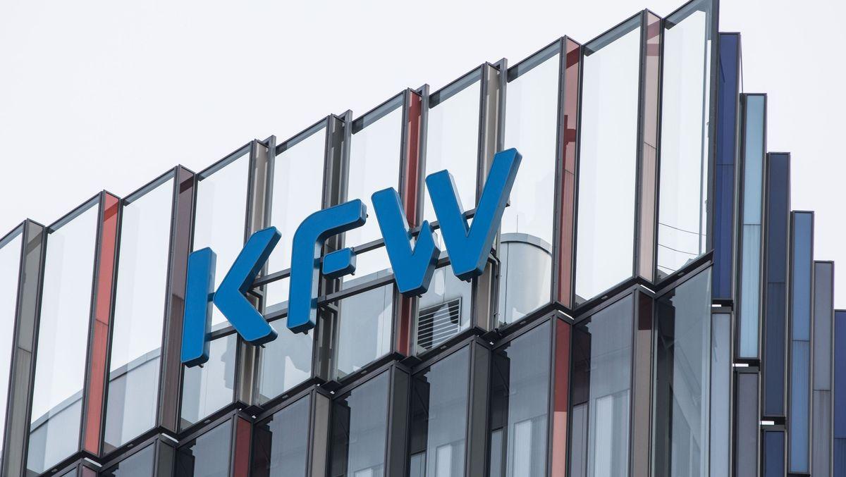 Das KfW-Gebäude in Frankfurt am Main.