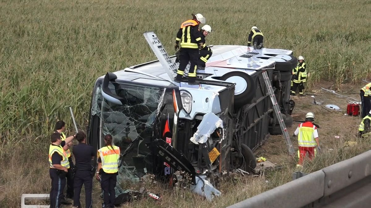 Busunfall auf A71