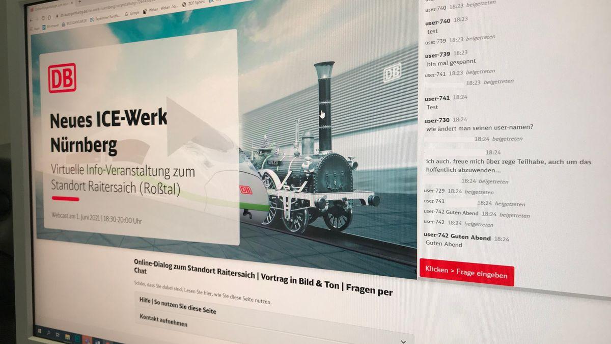 Online-Bürgerdialog zu geplanten ICE-Werk bei Nürnberg
