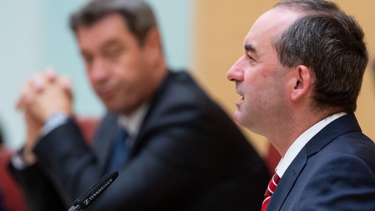 Wirtschaftsminister Aiwanger im Landtag