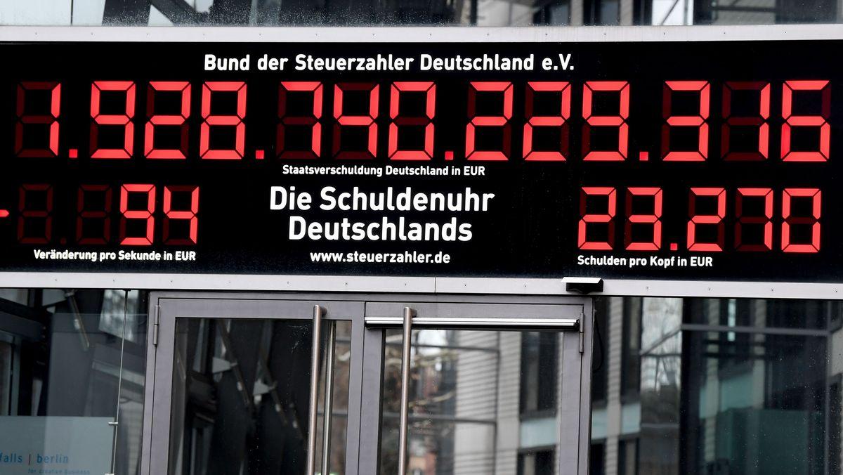 Die Schuldenuhr Deutschlands