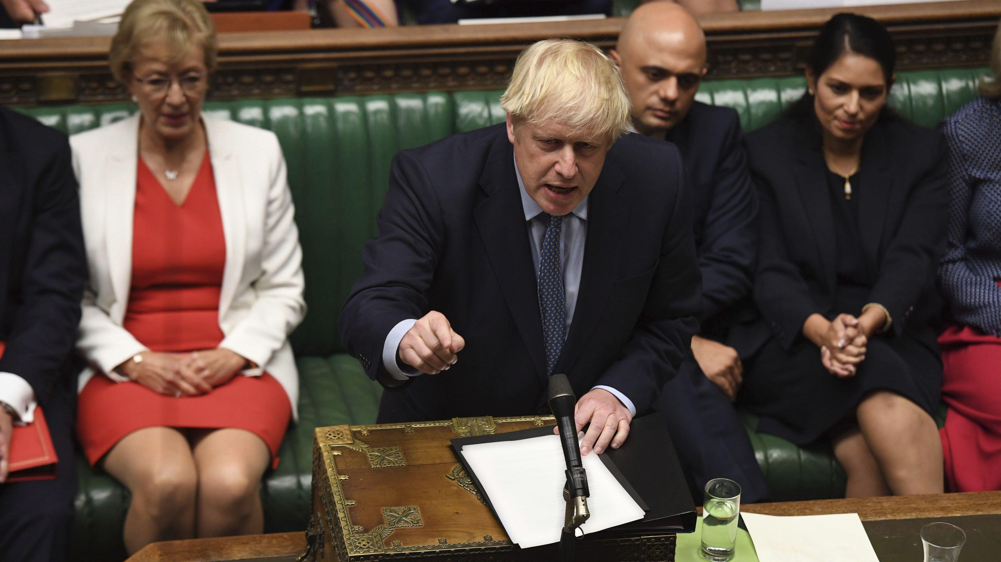 Die Wortwahl von Premier Boris Johnson stößt auf Kritik.
