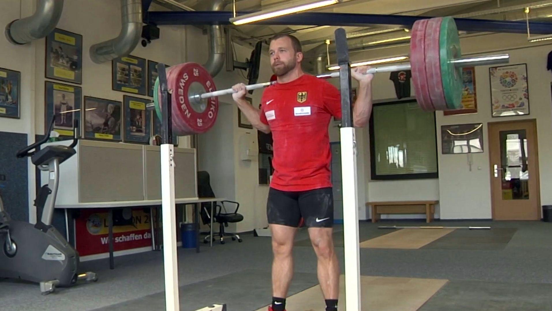 Gewichtheber Simon Brandhuber