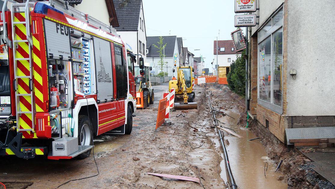 Mehr als 60 Einsätze wegen Unwetter im Landkreis Aschaffenburg