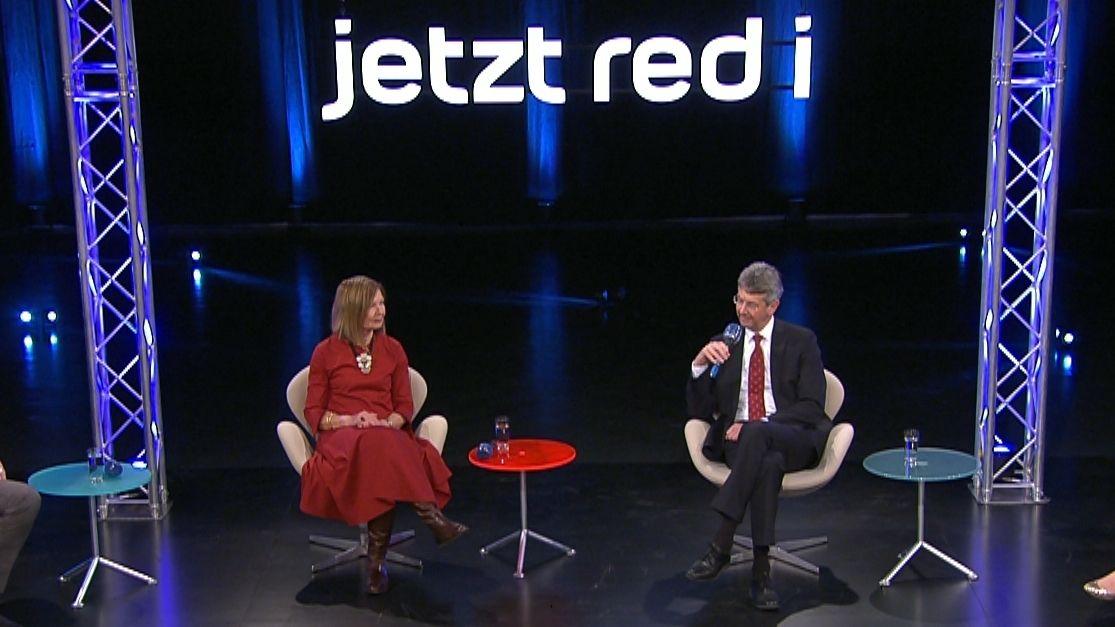 """Kultusminister Michael Piazolo (Freie Wähler) und SPD-Bildungspolitikerin Margit Wild bei """"jetzt red i"""""""