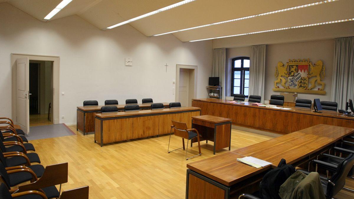 Gerichtssaal im Landgericht Memmingen