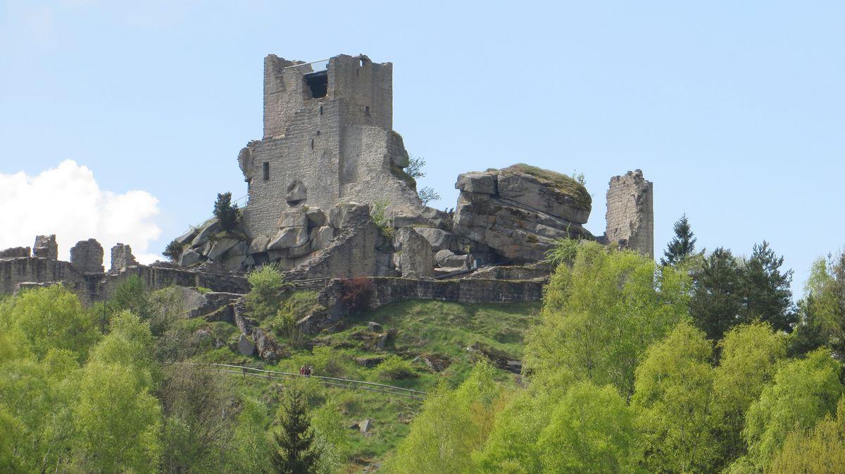 Die Burgruine von Flossenbürg.