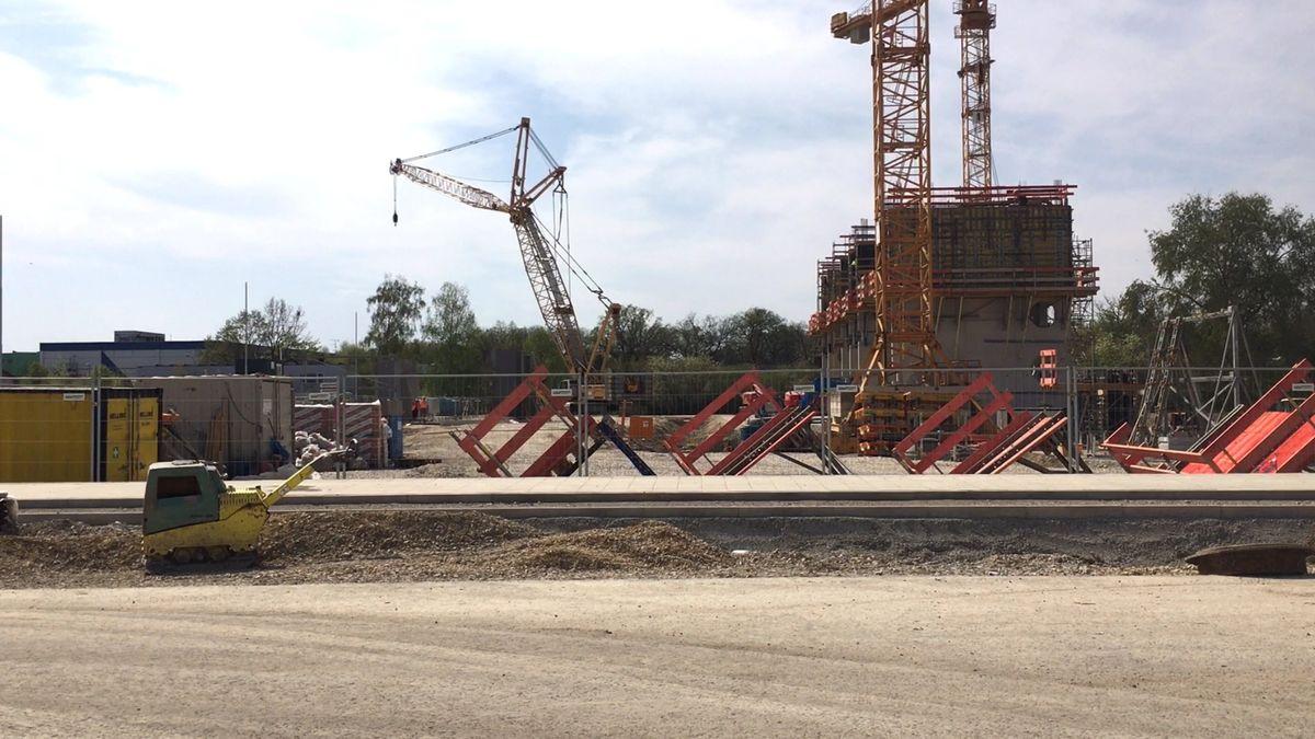 "Die Baustelle des ""IN-Campus"" in Ingolstadt"