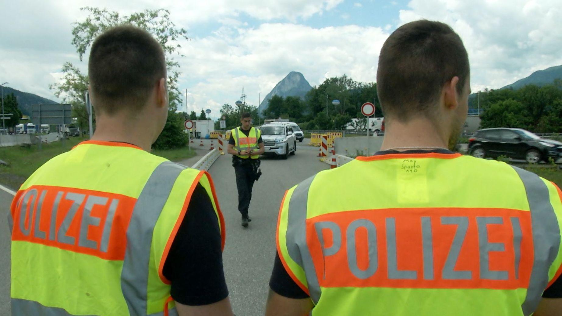 Polizei an der Grenze