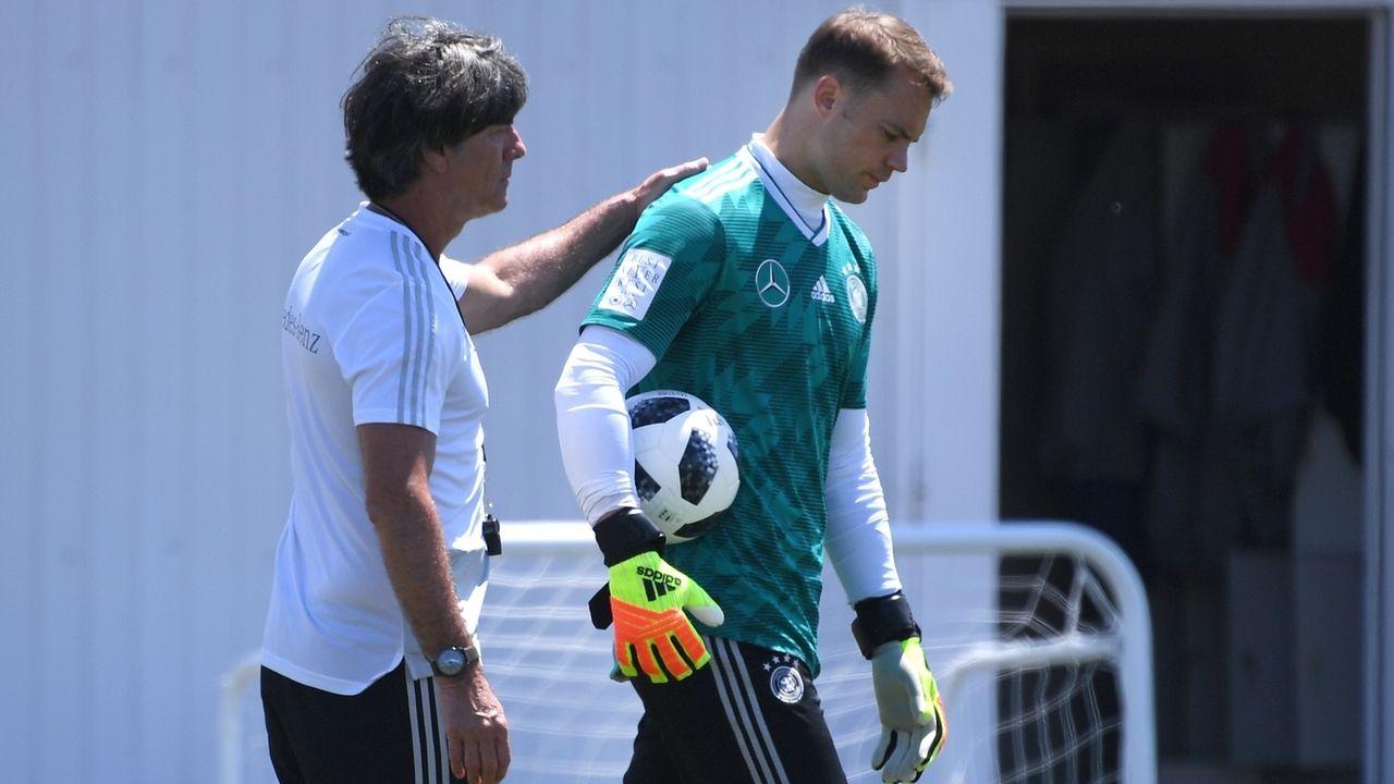 Bundestrainer Joachim Löw und Manuel Neuer
