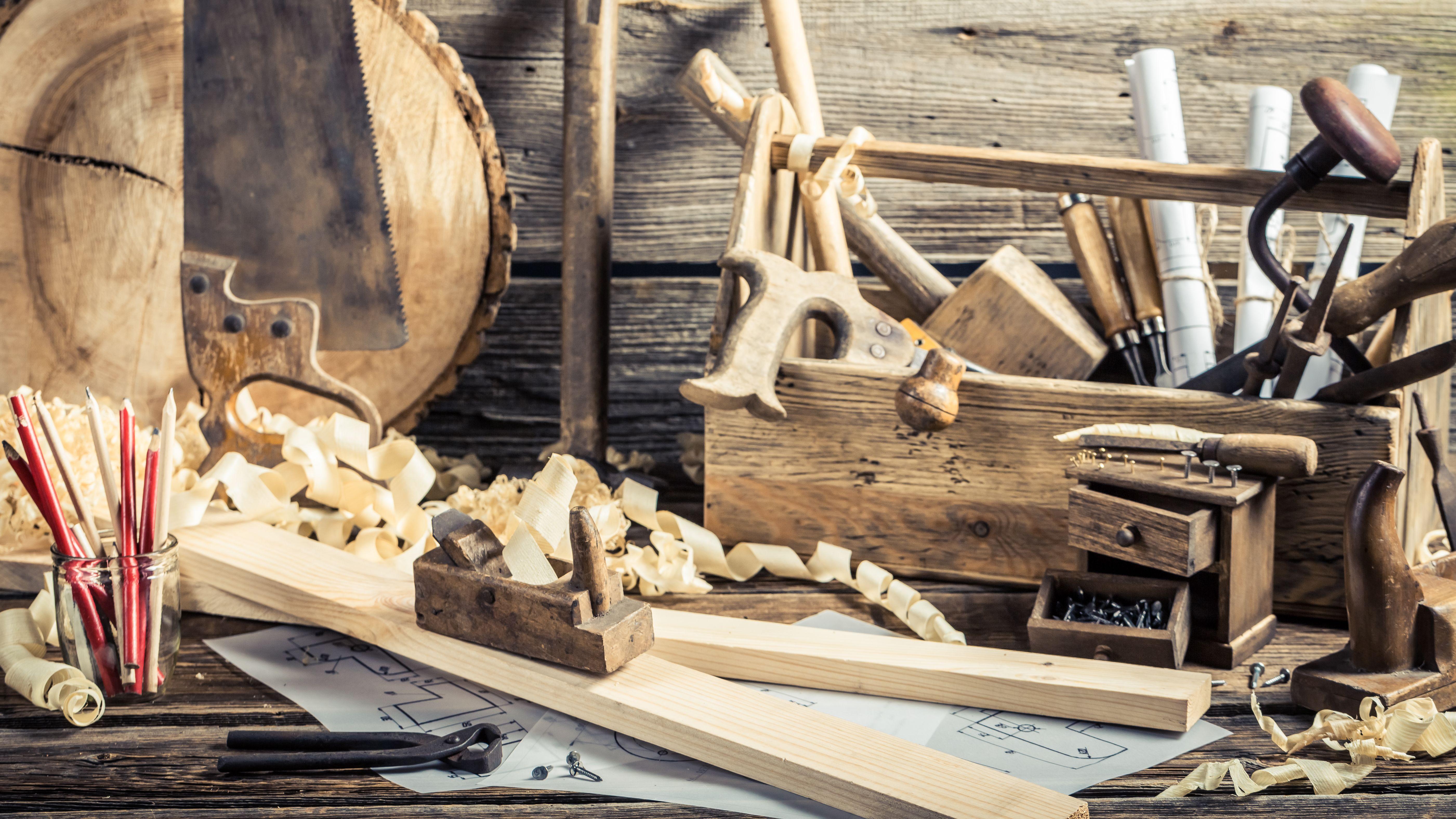 Symbolbild: In der Werkstatt eines Zimmermanns