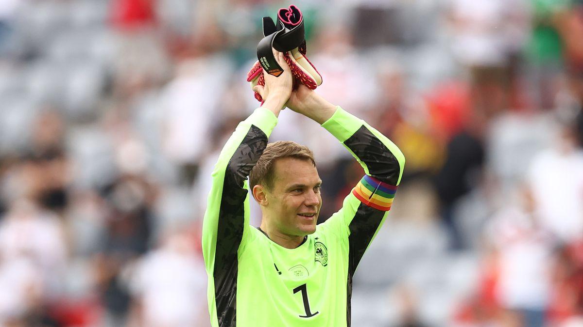 Deutschlands Torhüter Manuel Neuer beim Spiel Portugal-Deutschland