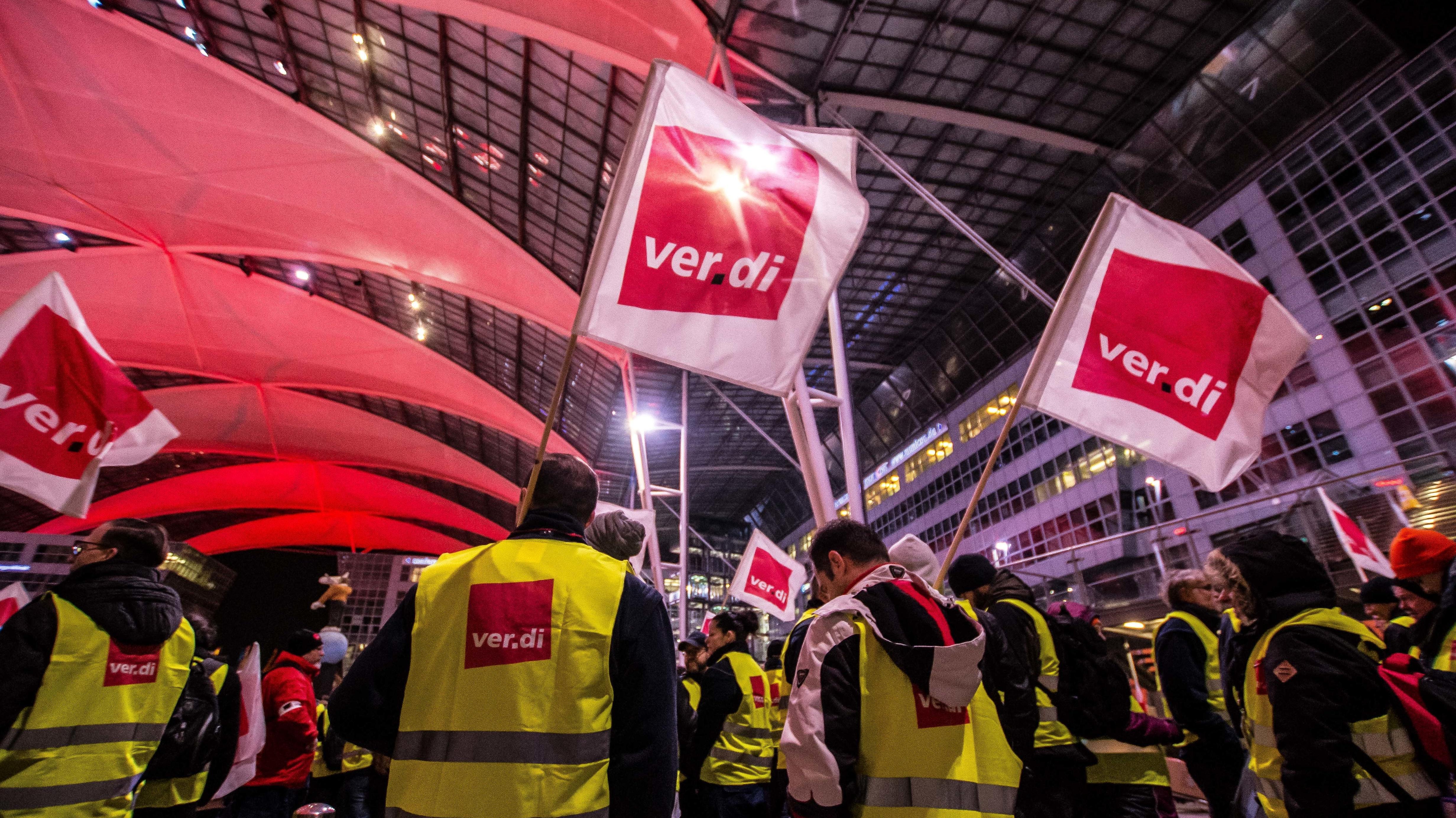 Warnstreik am Flughafen München