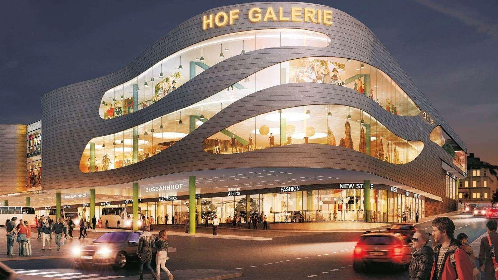 """Eine Planungsskizze der """"Hof-Galerie"""""""