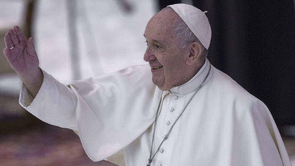 Hat gut Lachen: Papst Franziskus.   Bild:Picture Alliance/ROPI/Maria Grazia Picciarella