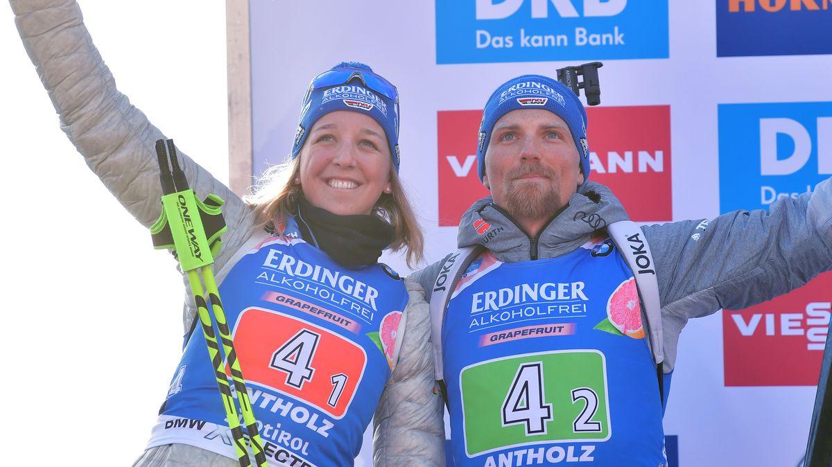 Franziska Preuß und Erik Lesser