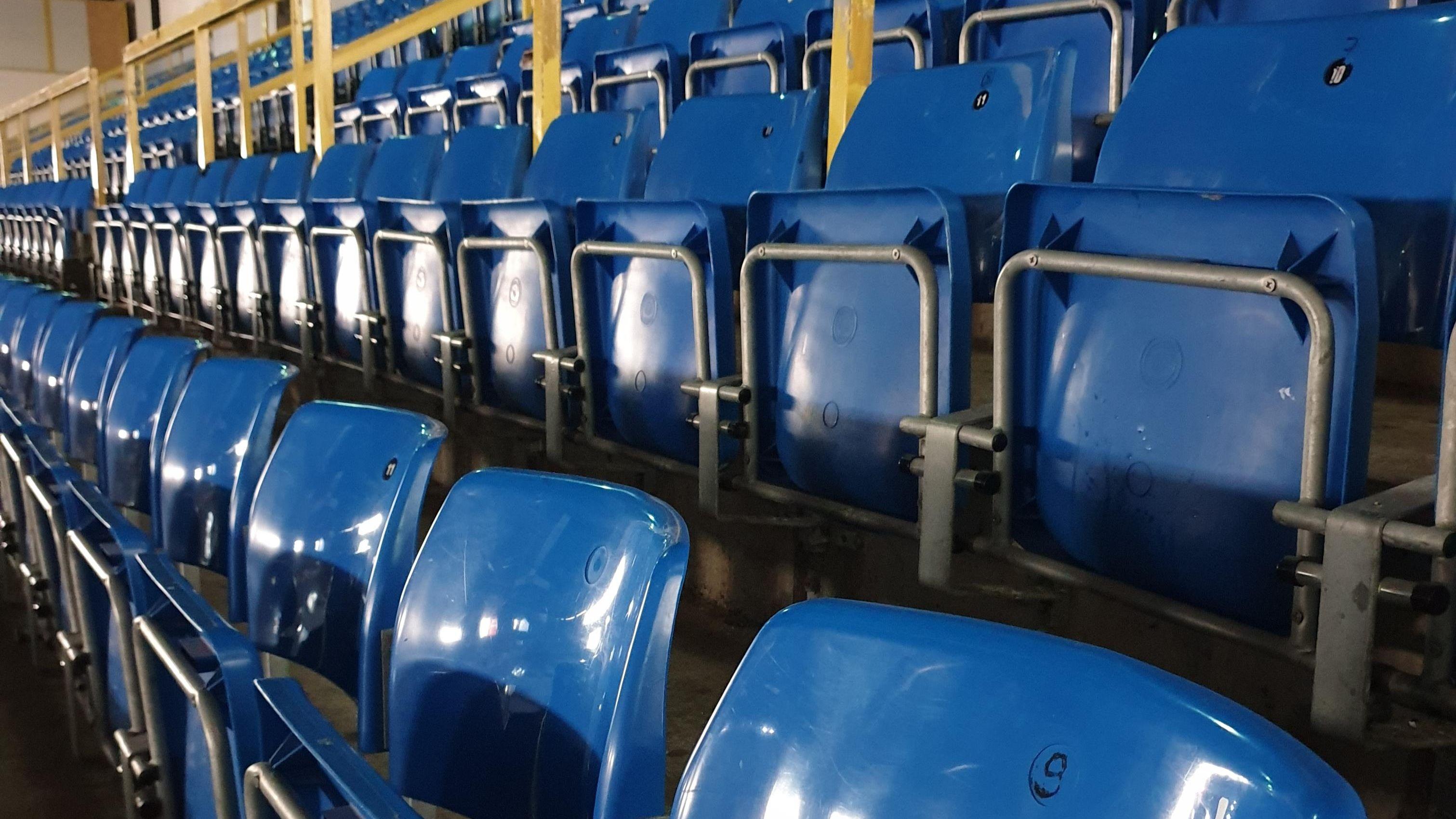Die Stadionsitze des EVL