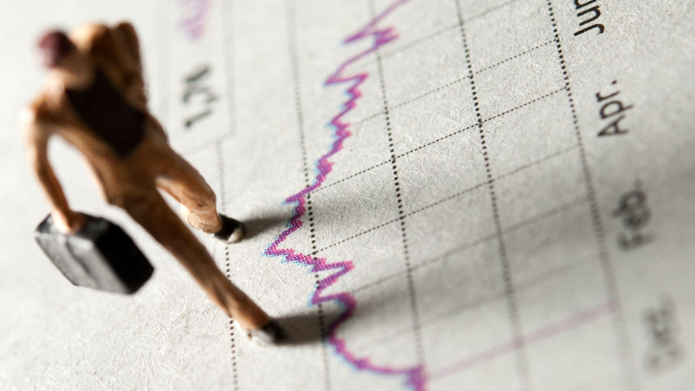 Abbildung einer Rendite-Kurve von Aktien (Symbolbild)