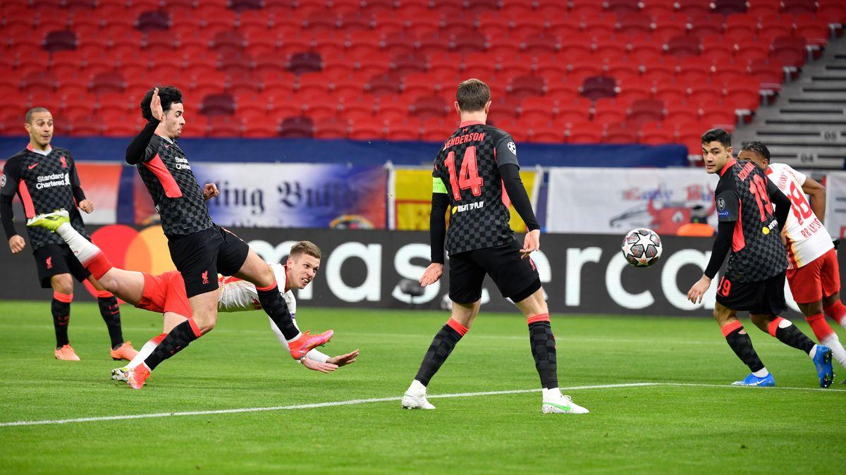 RB Leipzig im CL-Spiel gegen Liverpool in Budapest