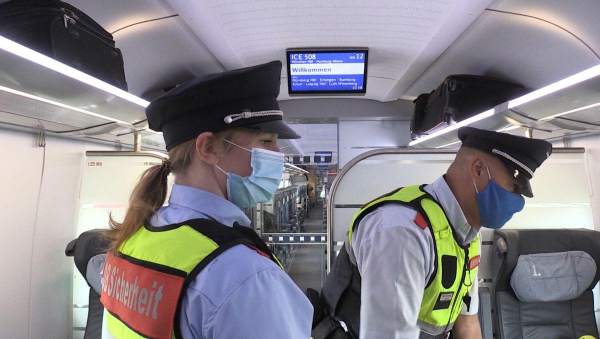 Maskenmuffeln auf der Spur: Unterwegs mit der Bahn-Patrouille