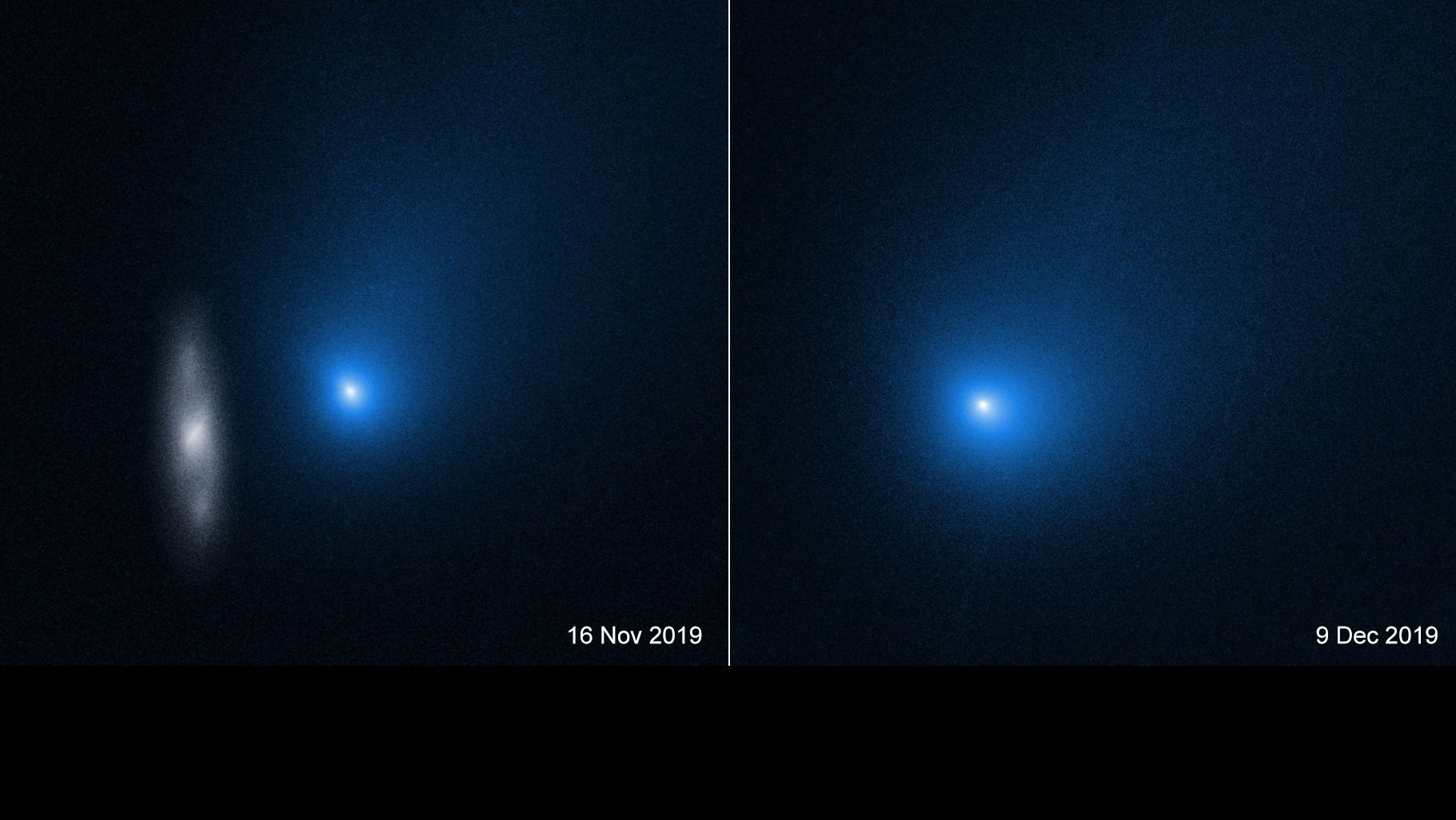 Aufnahmen von Komet 2I/Borisov am 16. November und 9. Dezember 2019