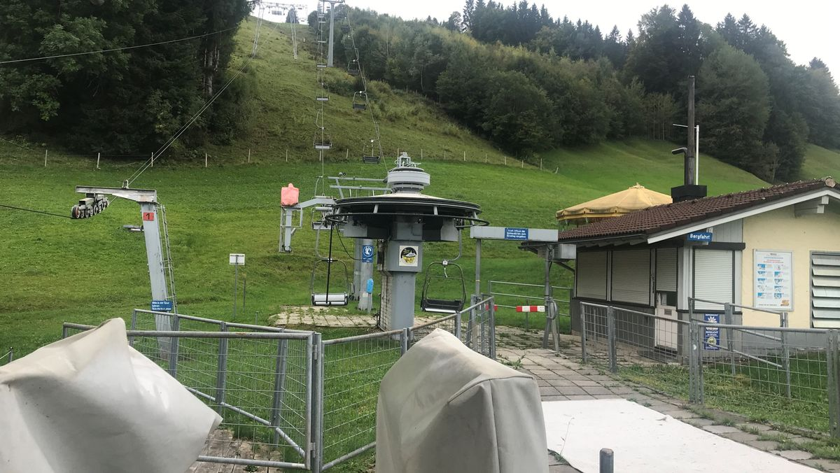 Ein Skilift am Grünten