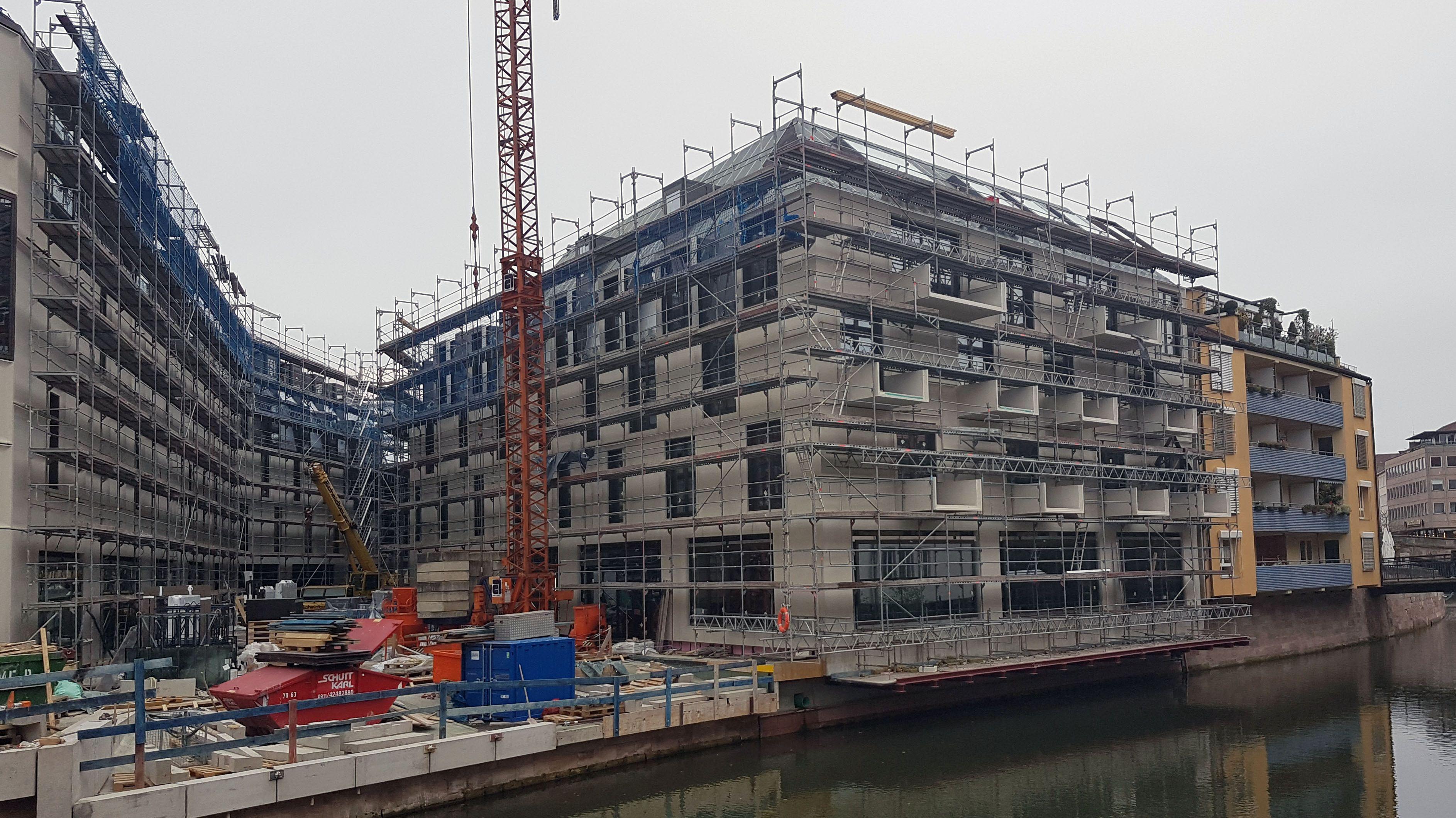 Die Baustelle des Zukunftsmuseums in Nürnberg