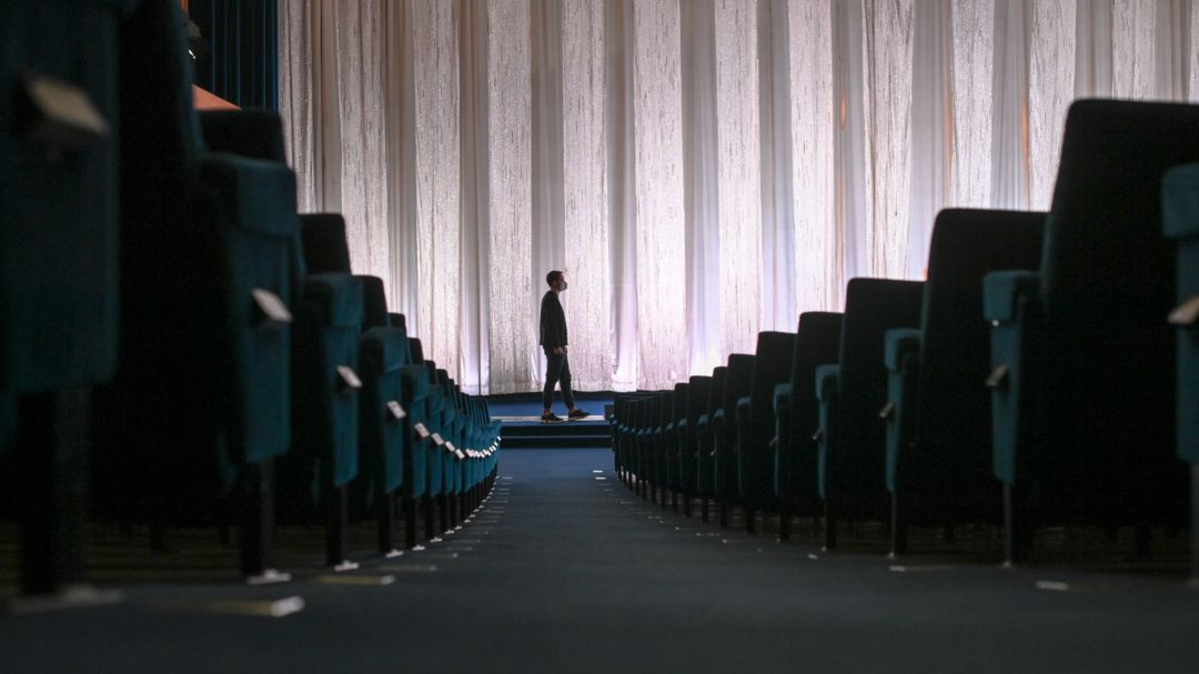 Lockdown (Symbolbild): Leerer Kino-Saal