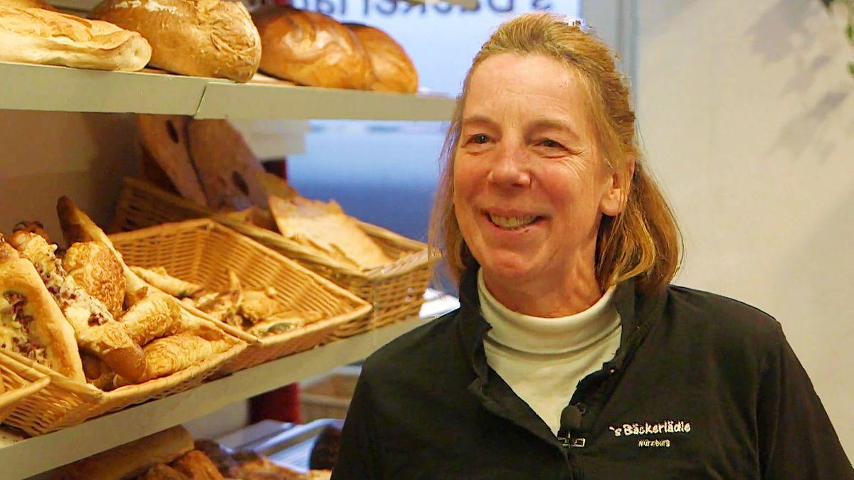 Rosalinde Schraut in ihrem Bäckerlädle
