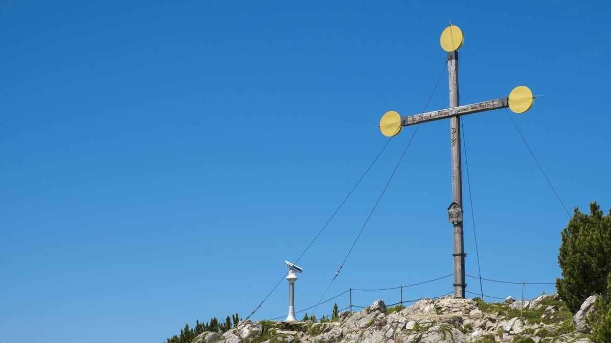 Gipfelkreuz auf dem Rauschberg