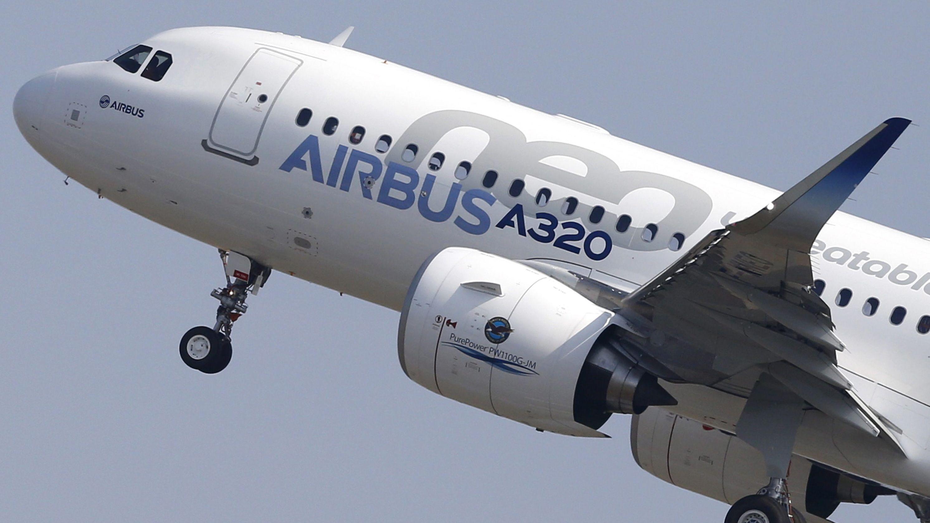 Ein Airbus A320neo beim Start