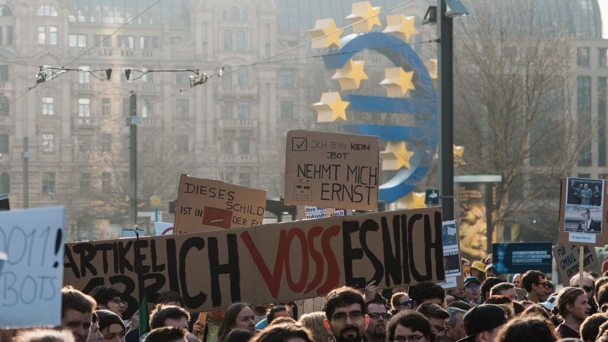 Proteste gegen die EU-Urheberrechtsreform