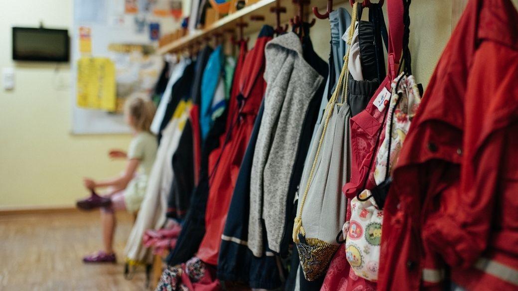 Garderobe in einer Kita