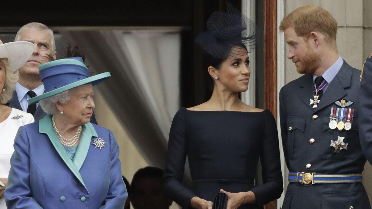 Die Queen mit Herzogin Meghan und Prinz Harry (Archivbild aus 2018)