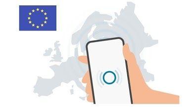 Corona-Warn-App / Europafahne